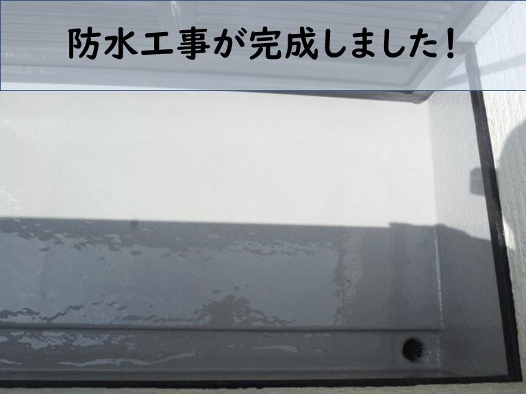 和歌山市でオートンウレアックスのベランダ防水工事が完成しました