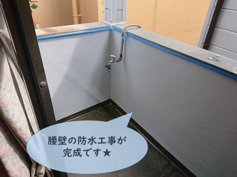 和歌山市でベランダの腰壁をシリコンテックスで防水しました