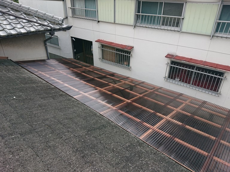 和歌山市でポリカ波板張替えが完成しました