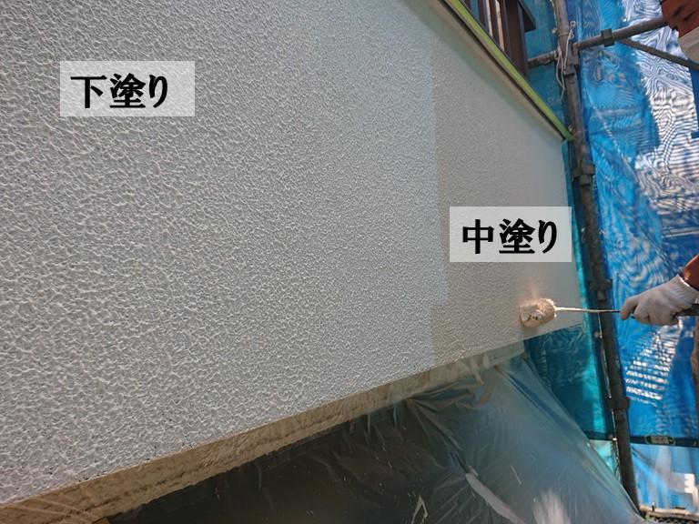 和歌山市で下塗りでパターン塗り後、中塗り上塗りをしました