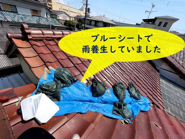 和歌山市で銅板の谷樋に穴が…他にも棟瓦がズレていました