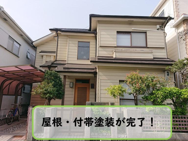 和歌山市で屋根塗装・雨樋塗装(付帯部)が完成しました