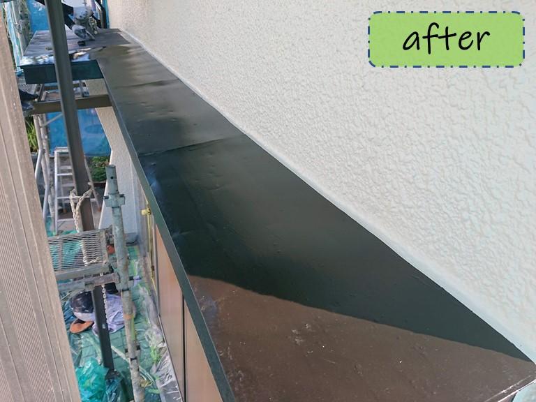 和歌山市で庇の塗装が完成しました
