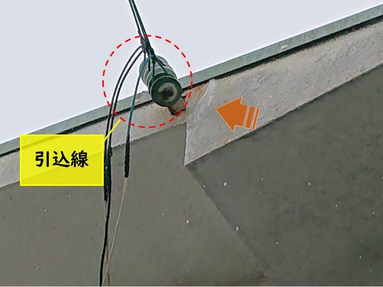 和歌山市で引き込み線の近くのクラックも補修しました