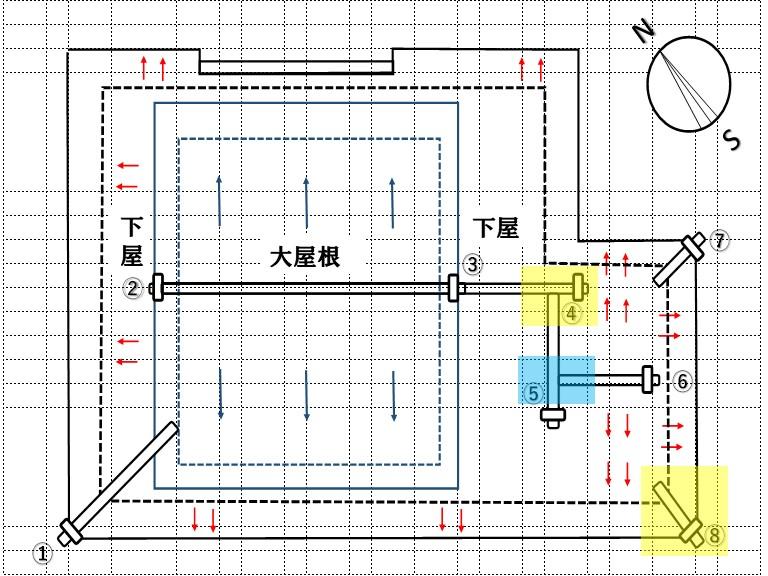 和歌山市で漆喰工事を行った箇所の図面