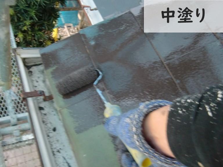 和歌山市で金属屋根も塗装します