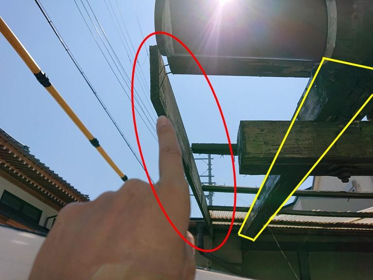 和歌山市で釘が抜けかかっていた箇所の補強をします