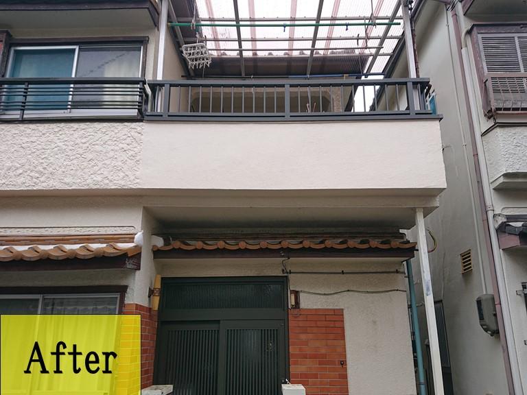 和歌山市のモルタル外壁復旧工事!復旧後、外壁塗装を行いました