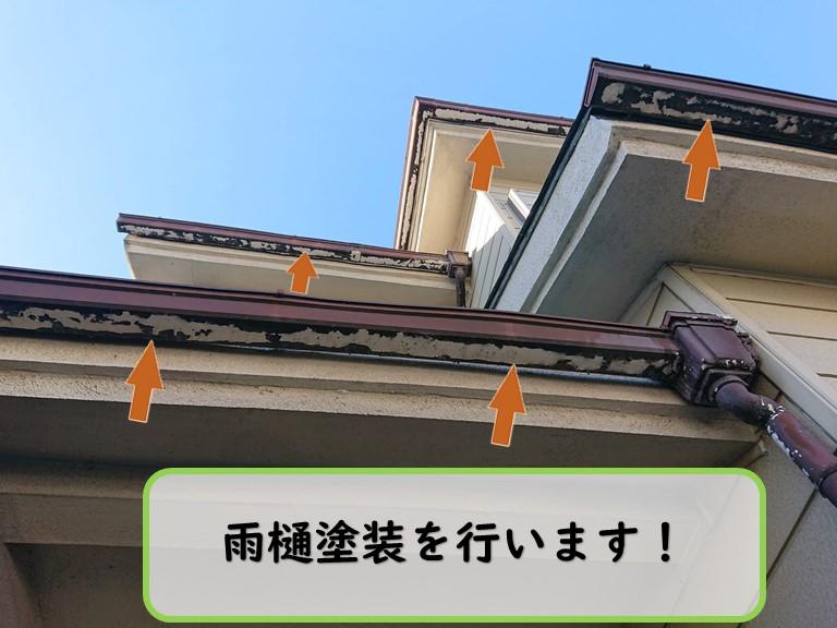 和歌山市で雨樋やベランダの手すり等の付帯部塗装を行いました