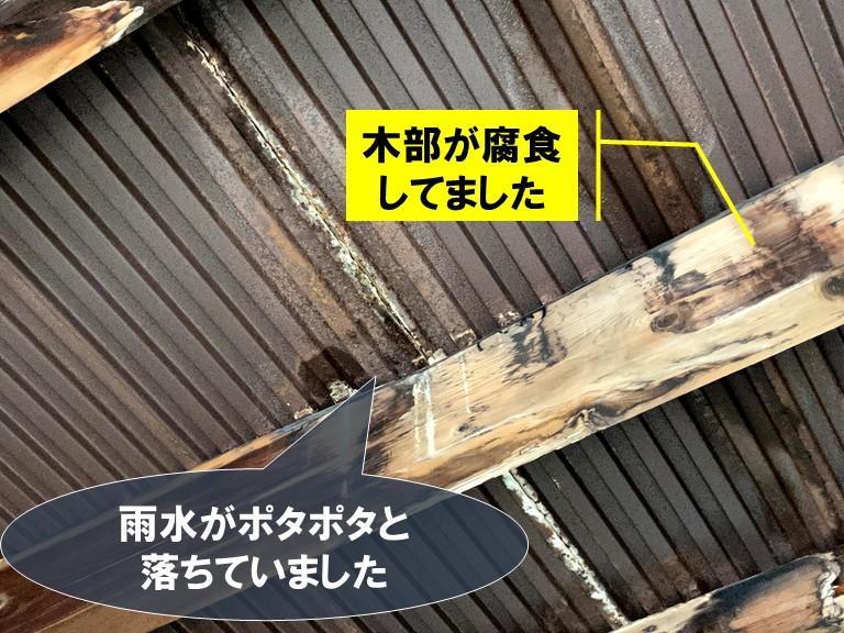和歌山市で雨漏りの調査!空き家、玄関、ガレージを調査しました