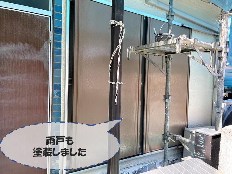 和歌山市の付帯部塗装では雨戸も塗装します