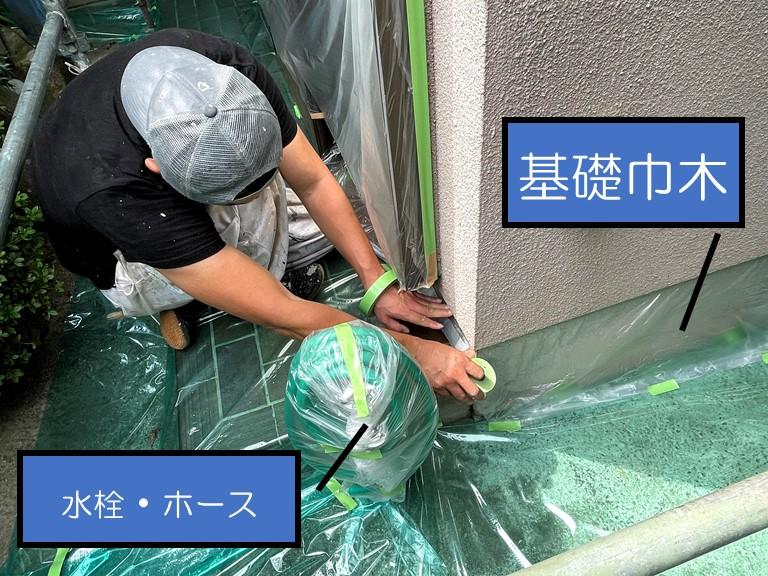 和歌山市で外壁塗装前の準備!高圧洗浄・補修工事・養生作業について