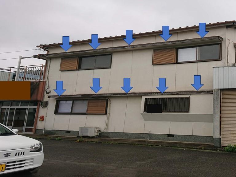和歌山市の現場調査で庇が劣化していたので交換することになりました