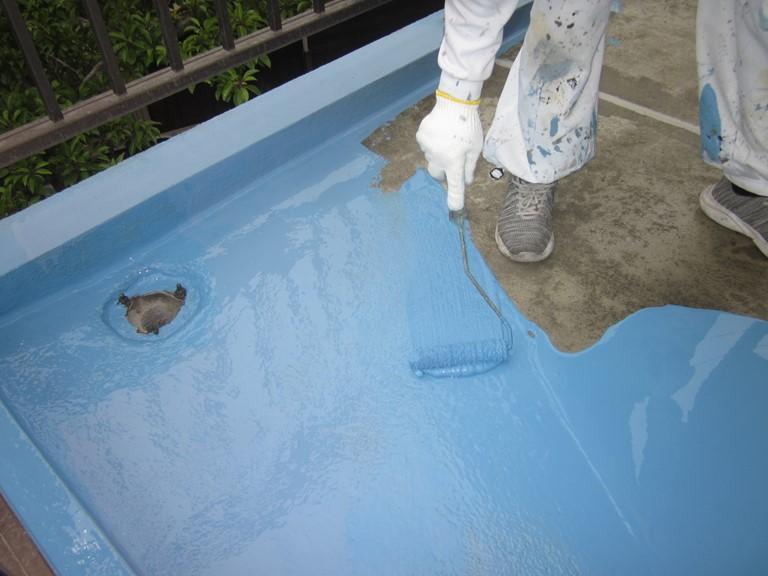 岩出市でウレタン防水工事を行います