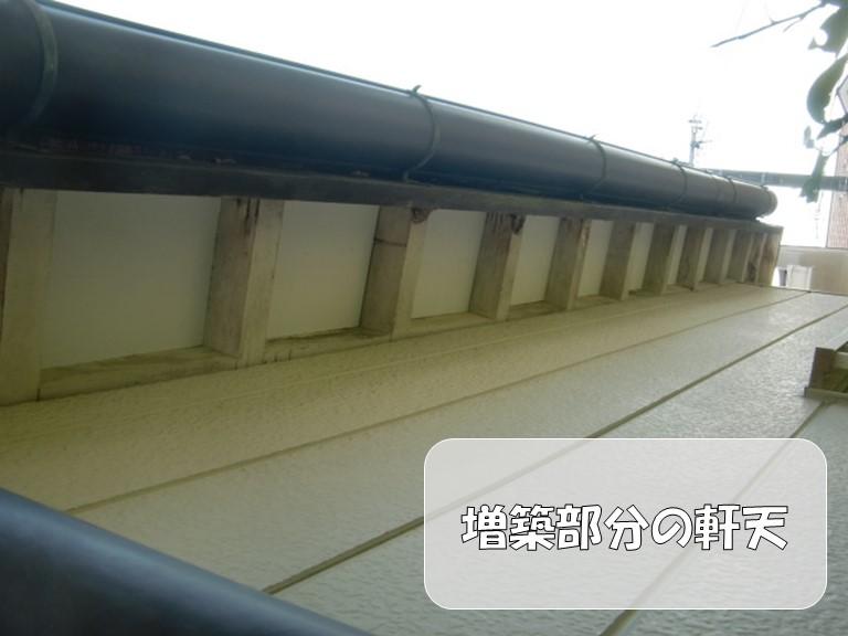 岩出市の軒天張替工事でケイカル板を使用し腐食防止の丈夫な軒天!