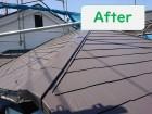 岩出市の屋根塗装で中塗り・上塗りを遮熱効果があるニッペサーモアイを使用し完成した写真