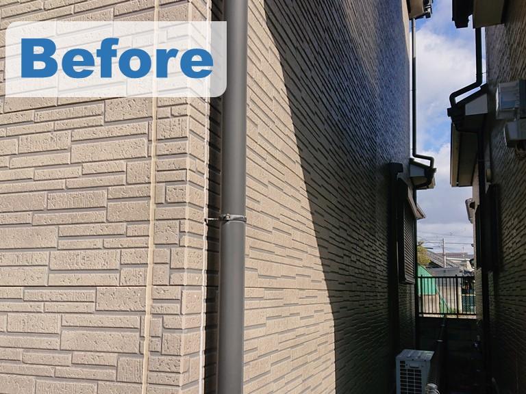 紀の川市在住のT様邸、外壁塗装工事のBeforeの写真