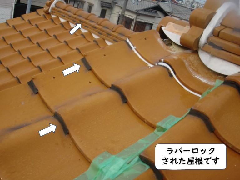 和歌山市のラバーロックされた屋根です