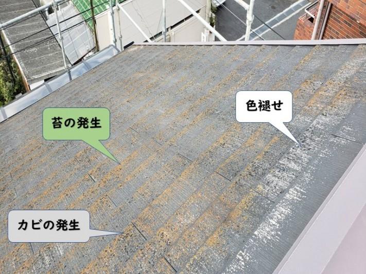 和歌山市のスレートの劣化状況