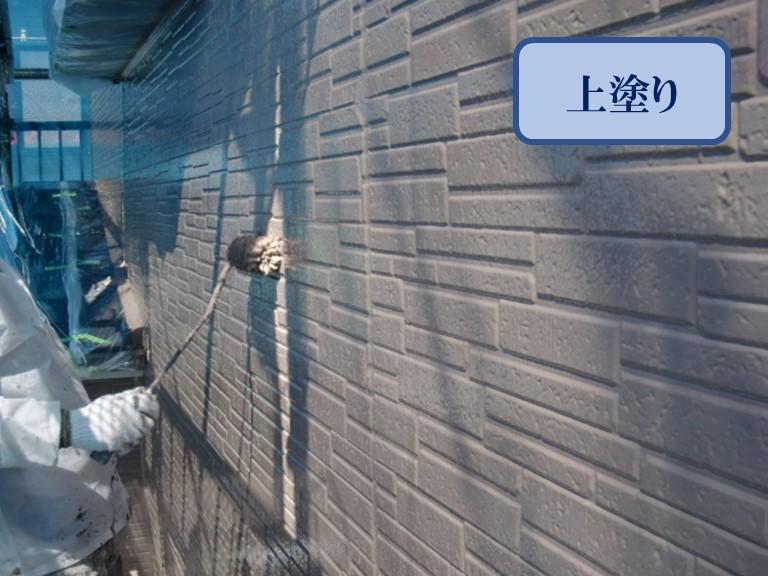 紀の川市で家の壁を塗りかえるのにファインパーフェクトトップを使用しました