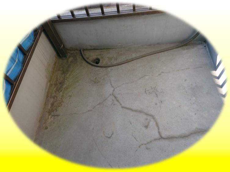 和歌山県和歌山市でのベランダ防水工事を行った時のbeforeの写真