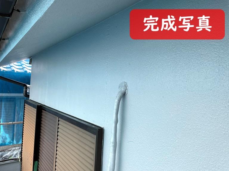 紀の川市の外壁塗装工事で塗装工事が完了した写真