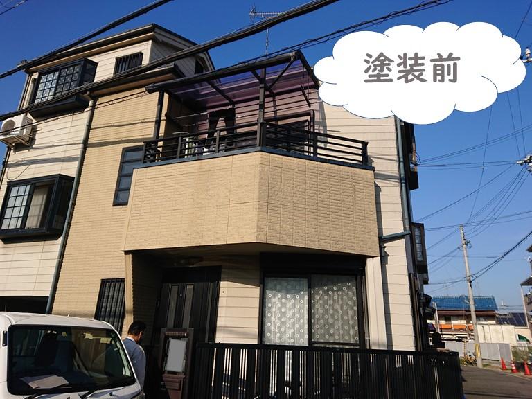 岩出市の外壁塗装・屋根塗装・付属部塗装を行う前の全景写真