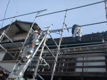 街の屋根やさん和歌山店の工事
