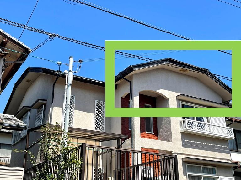 和歌山市の台風被害で棟板金が飛ばされたので屋根の調査を行いました