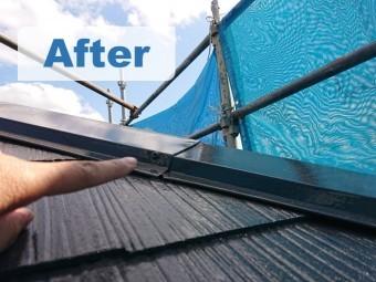 紀の川市で屋根塗装を行い完成し、beforeとafterの写真を撮りました