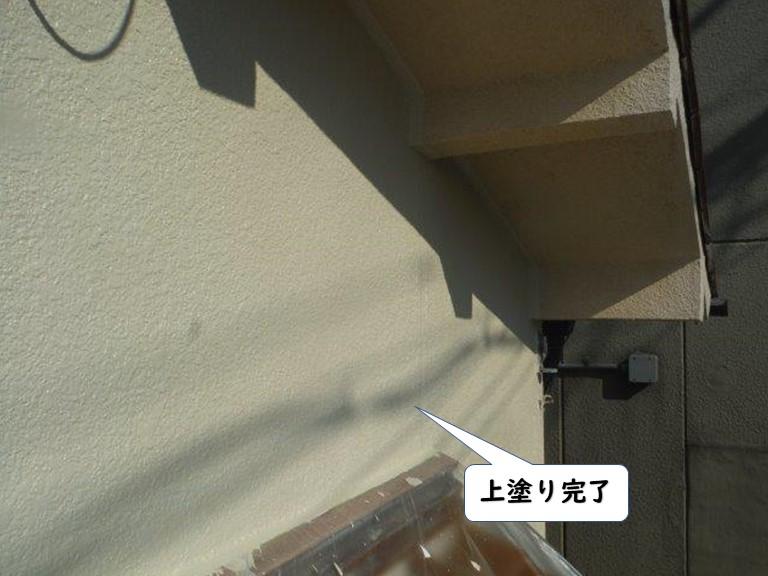 岩出市の外壁の上塗り完了