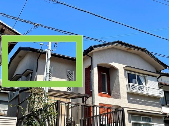 和歌山市の台風被害で屋根の鉄板(棟板金)が飛ばされたので屋根の調査を行いました